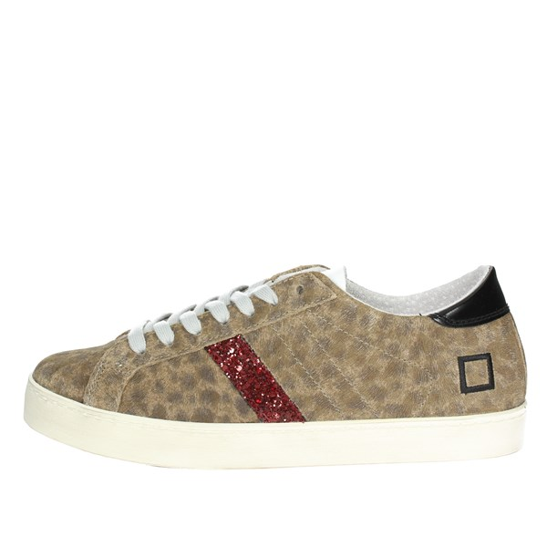 D.a.t.e. Scarpe Donna Sneakers Bassa LEOPARDATO HILL LOW-13I