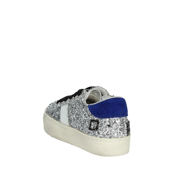 D.a.t.e. Shoes Sneakers Silver HILL LOW 1-C