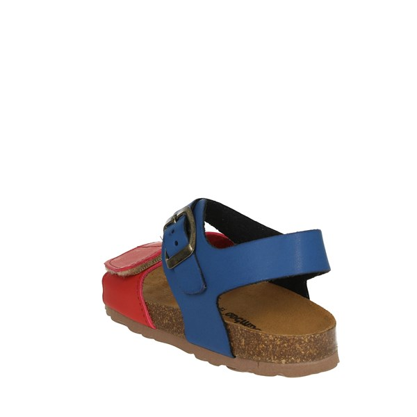<Bamboo Shoes Sandal Blue/Red BAM-218