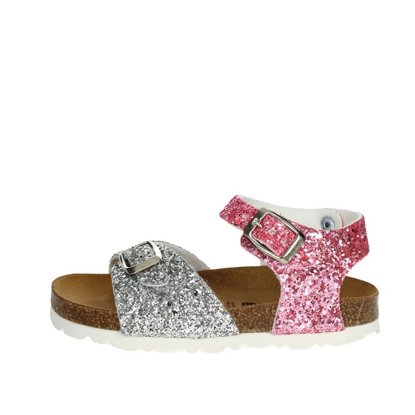 Bamboo Shoes Sandal Silver/pink BAM-14