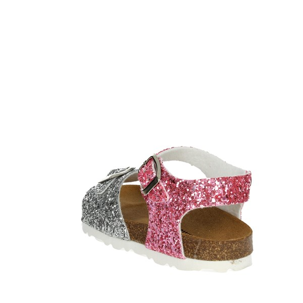 <Bamboo Shoes Sandal Silver/pink BAM-14