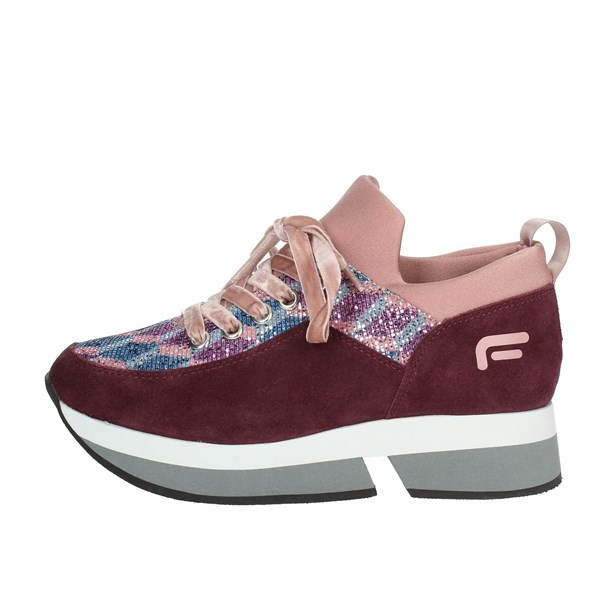Fornarina Shoes Sneakers Burgundy PI18SL1080VV67