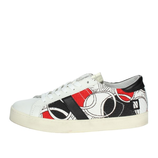 D.a.t.e. Shoes Low Sneakers White/Black/Red E18-154
