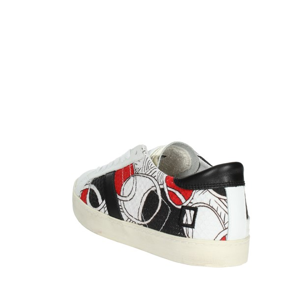<D.a.t.e. Shoes Low Sneakers White/Black/Red E18-154