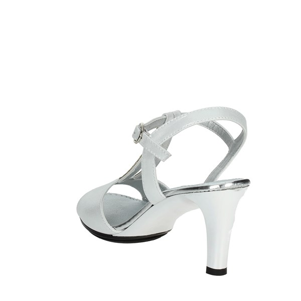 <Repo Shoes Sandals Silver 45292