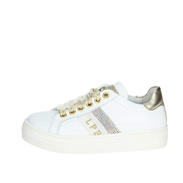 Le Petit Bijou Shoes Sneakers White/Gold 6301-2