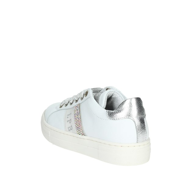 Le Petit Bijou Shoes Sneakers White/Silver 6301-2