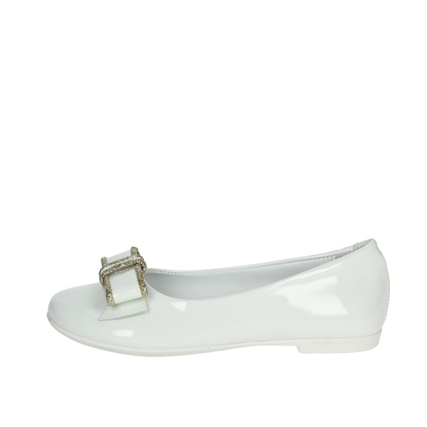 Le Petit Bijou Shoes Ballet Flats White/Gold 8222-2
