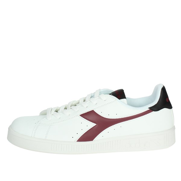 Diadora Shoes Sneakers White/Burgundy 101.160281 C7609