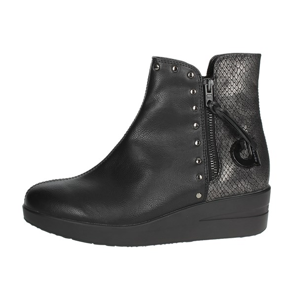 Agile By Rucoline  Shoes Ankle Boots With Wedge Heels Black E-211