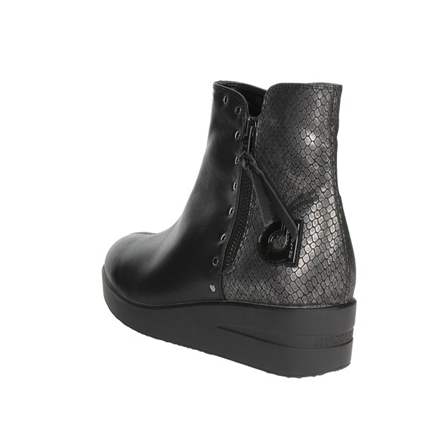 <Agile By Rucoline  Shoes Ankle Boots With Wedge Heels Black E-211