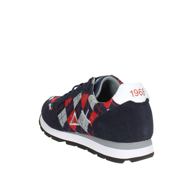 <Sun68 Shoes Sneakers Blue/Red Z28102