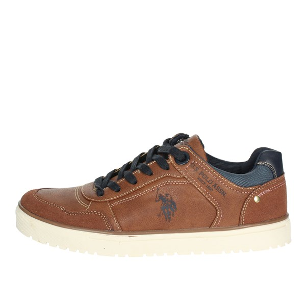 U.s. Polo Assn Shoes Low Sneakers Brown leather WALKS417W8/YS1