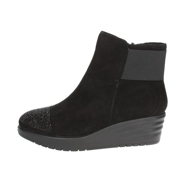 Imac Shoes Ankle Boots With Wedge Heels Black 206471