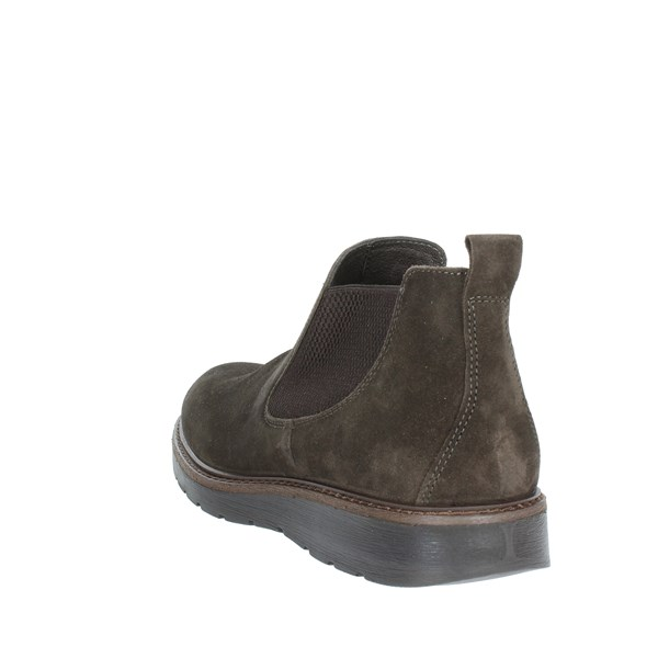 <Imac Shoes Ankle Boots Brown 201111