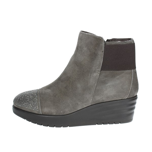 Imac Shoes Ankle Boots With Wedge Heels Grey 206471