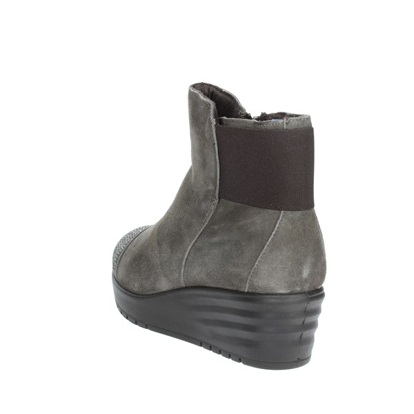 <Imac Shoes Ankle Boots With Wedge Heels Grey 206471