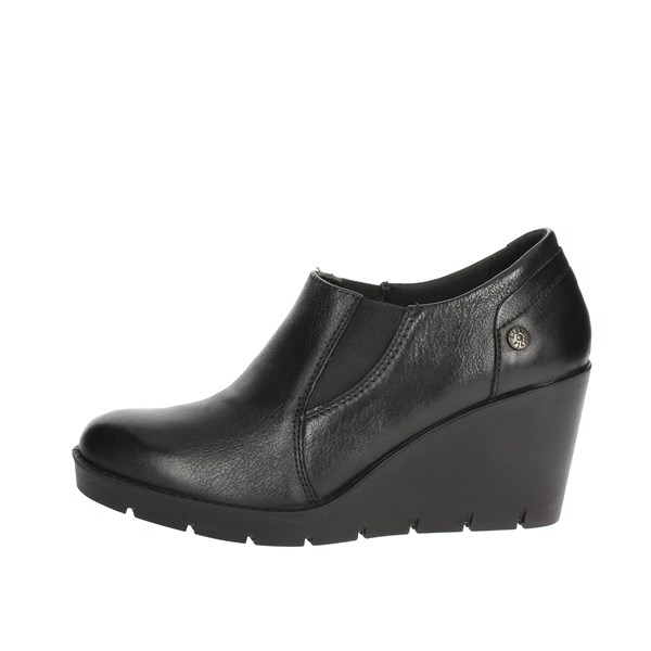 Imac Shoes Ankle Boots With Wedge Heels Black 205410