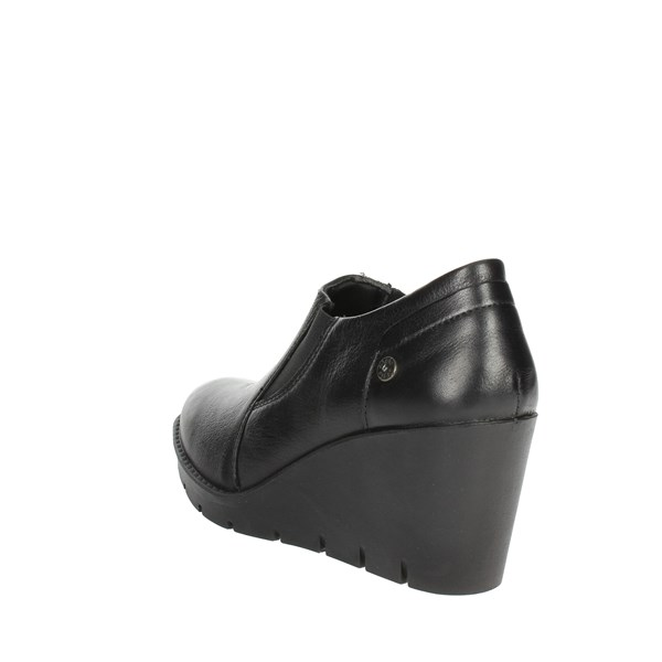 <Imac Shoes Ankle Boots With Wedge Heels Black 205410