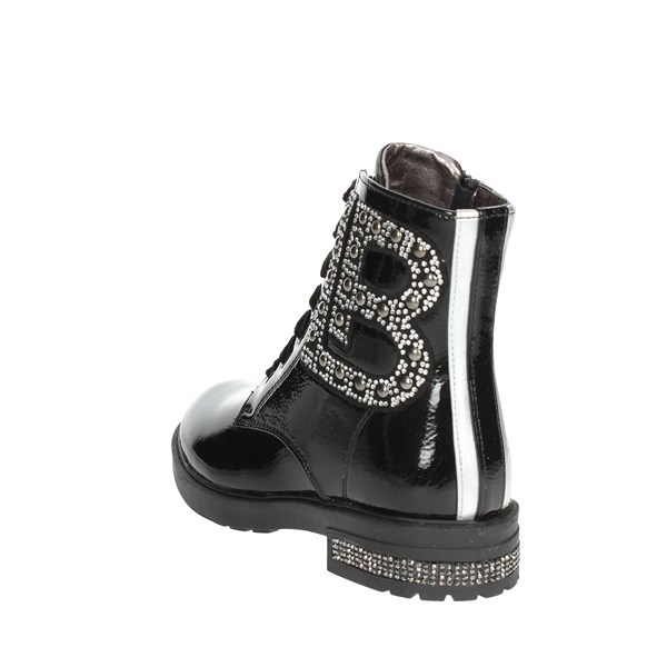 <Laura Biagiotti Dolls Shoes Boots Black 4683