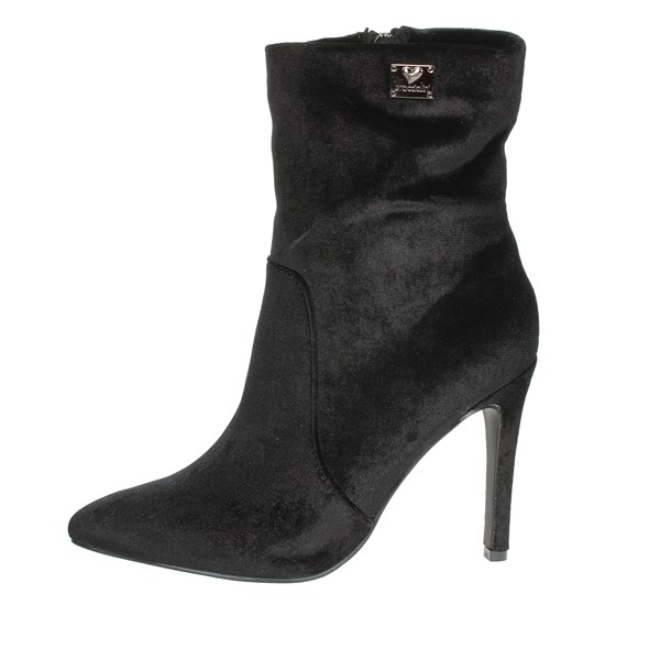 Braccialini Shoes Ankle Boots With Heels Black TA112
