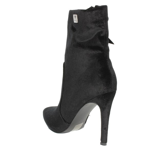 <Braccialini Shoes Ankle Boots With Heels Black TA112