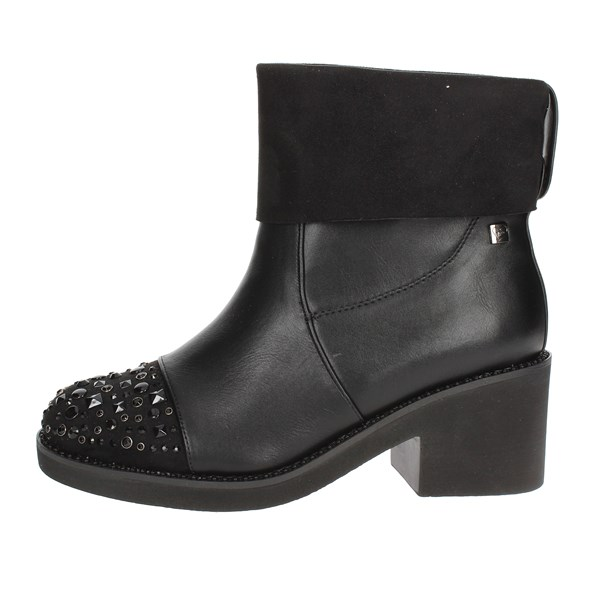 Braccialini Shoes Ankle Boots With Heels Black TA99