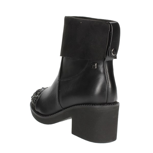 <Braccialini Shoes Ankle Boots With Heels Black TA99