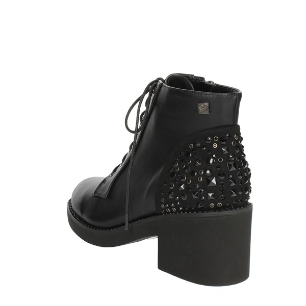 <Braccialini Shoes Ankle Boots With Heels Black TA118