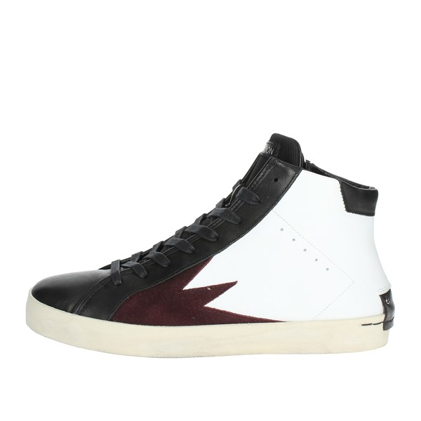 Crime London  Shoes High Sneakers White/Black 11020AA1.10