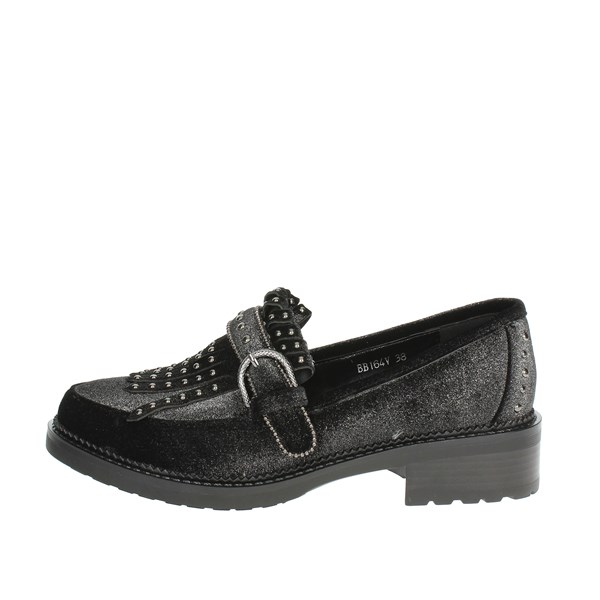 Luciano Barachini Shoes Moccasin Charcoal grey BB164V