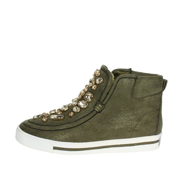 Luciano Barachini Shoes Sneakers Dark Green BB103G