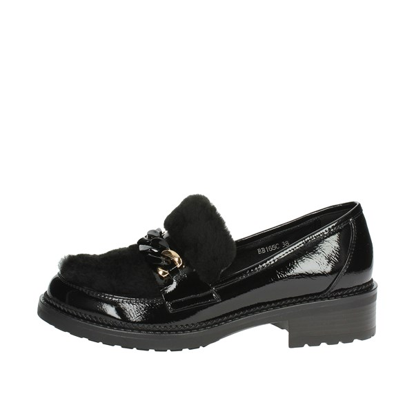 Luciano Barachini Shoes Moccasin Black BB165C