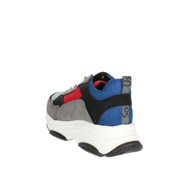 <So-us Shoes Sneakers Blue/Red R-520