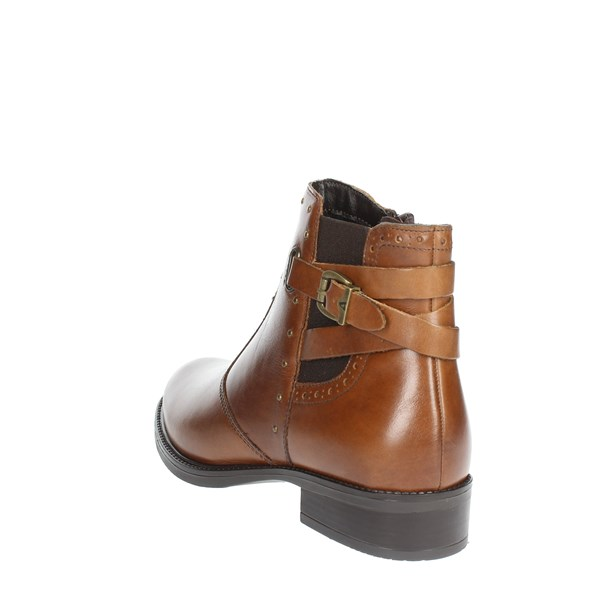 <Valleverde Shoes Ankle Boots Brown leather 47602