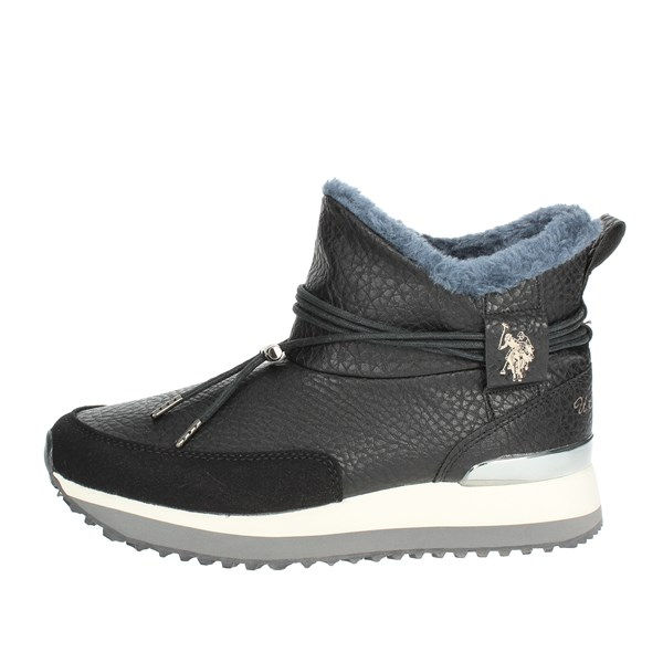 U.s. Polo Assn Shoes High Sneakers Black FRIDA4099W8/Y1