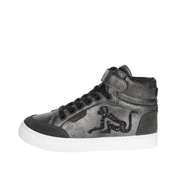 Drunknmunky Scarpe Bambina Sneakers NERO BOSTON ROCK STAR B77