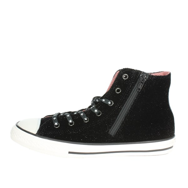 Converse Shoes High Sneakers Black 662714C