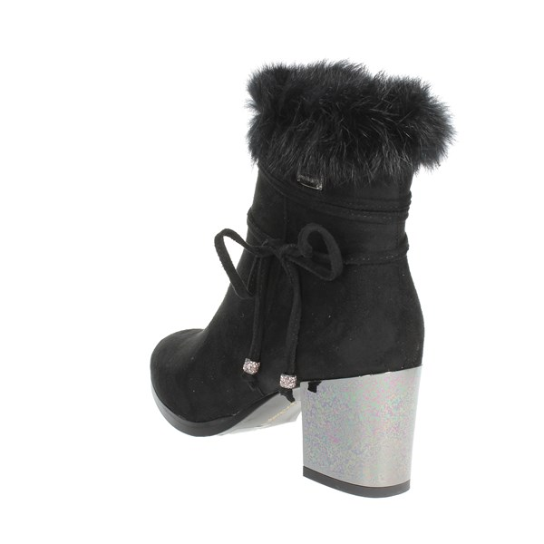 <Laura Biagiotti Shoes Ankle Boots With Heels Black 5131