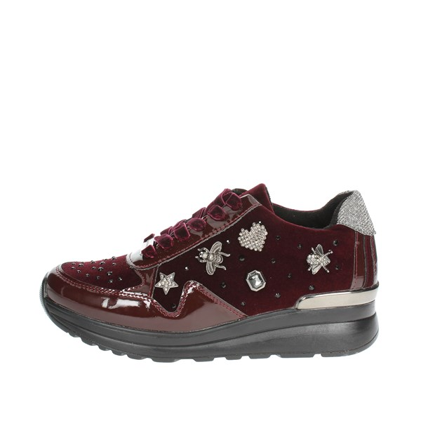 Laura Biagiotti Shoes Low Sneakers Burgundy 5067