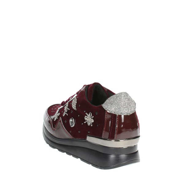 <Laura Biagiotti Shoes Low Sneakers Burgundy 5067