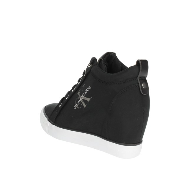 <Calvin Klein Jeans Shoes High Sneakers Black RE9800