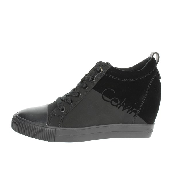 Calvin Klein Jeans Shoes High Sneakers Black R0647