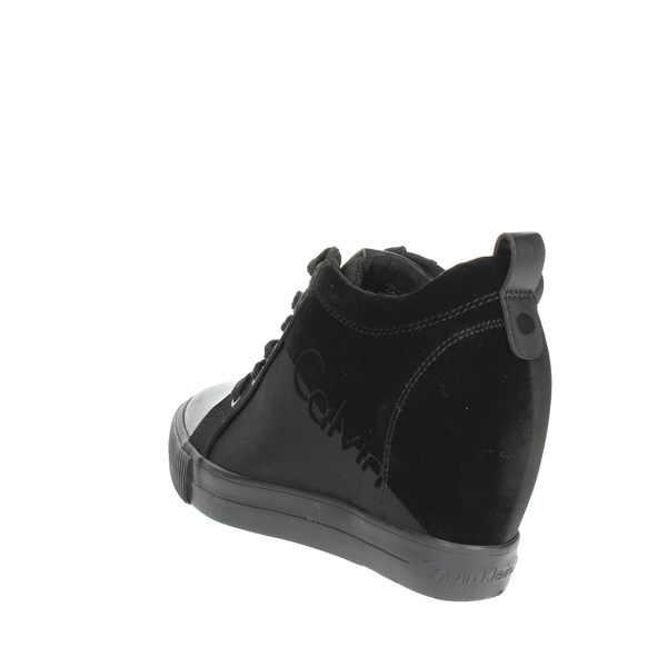 <Calvin Klein Jeans Shoes High Sneakers Black R0647
