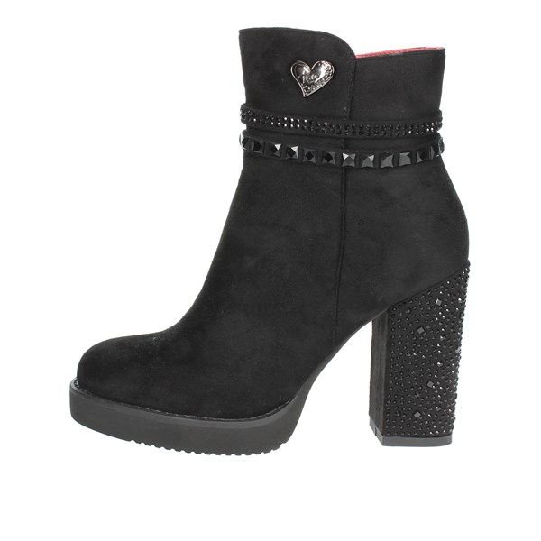Braccialini Shoes Ankle Boots With Heels Black TA29
