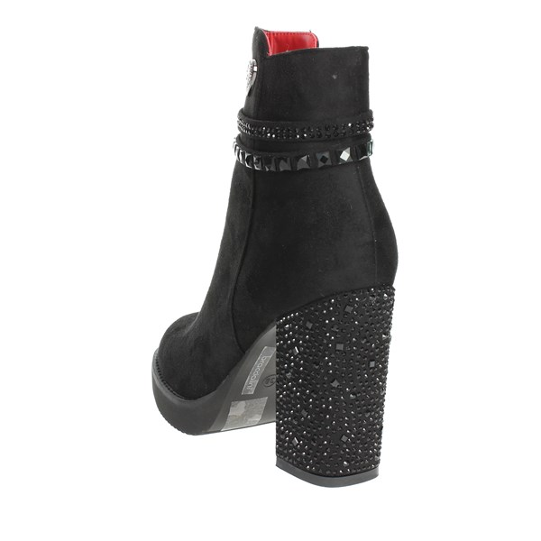 <Braccialini Shoes Ankle Boots With Heels Black TA29