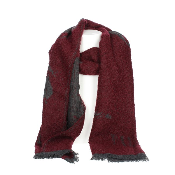 1 Classe Accessories Scarves Burgundy K 1958 8516