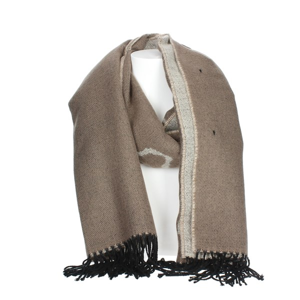 1 Classe Accessories Scarves Brown Taupe K 0278 PIAN