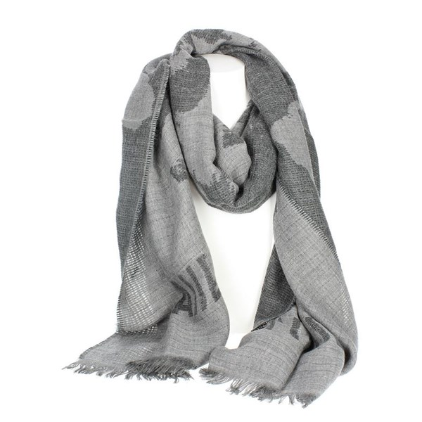 1 Classe Accessories Scarves Grey K 1858 8506