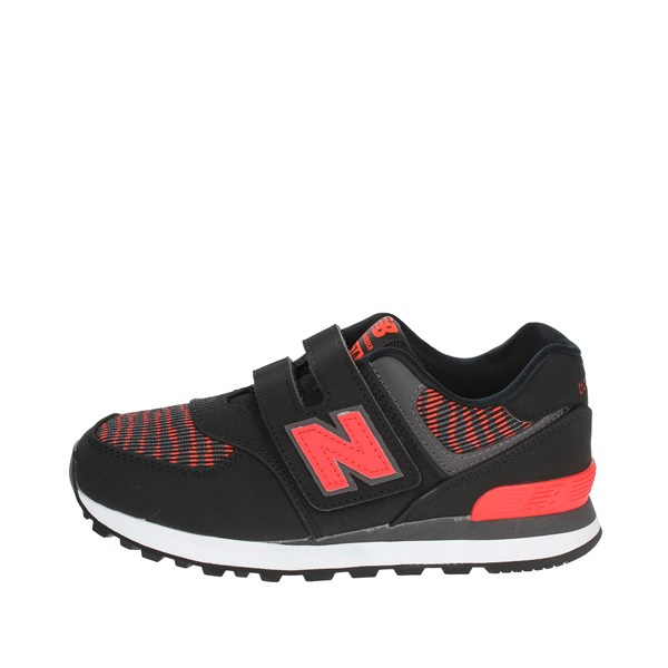 New Balance Shoes Low Sneakers Black/Red YV574OK